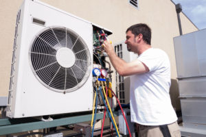 Man Repairing HVAC installation